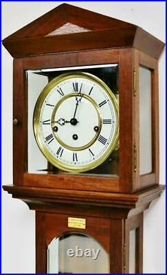 Beautiful Vintage Hermle 8 Day Westminster Chime Musical Laterndluhr Wall Clock