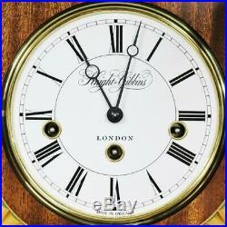 Beautiful Vintage Knight & Gibbins 8 Day Mahogany Westminster Chime Wall Clock