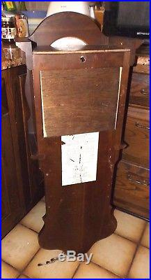 Beautiful Vtg Chry Wood Howard Miller Tally Triple Chime Westminster Wall Clock
