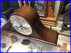 Beautiful Vtg Mahogany Hamilton-german Westminster 1/4 Hour Chime Mantle Clock