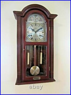 Beautiful Waltham Tempus Fugit 31 Day Chime Hard Wood Wall Clock With Key