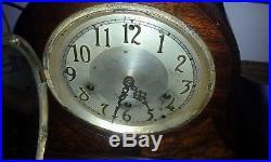 Beautiful burl walnut case Seth Thomas Westminster chime mantel clock