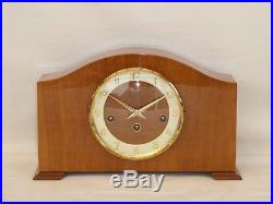 Bentima Hermle 8 Day Light Walnut Westminster Mantel Mantle Chime Clock