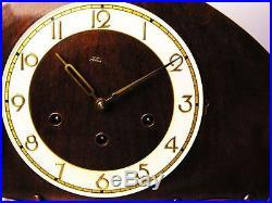 Big Beautiful Art Deco Kienzle Westminster Chiming Mantel Clock With Pendulum