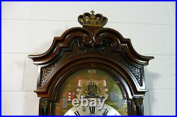 Big Christiaan Huygens Wall Clock Dutch Westminster Chime Moonphase