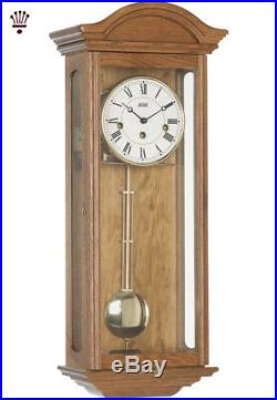 BilliB Axford Wall Clock Mechanical Westminster Single Chime Solid Oak Classic