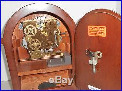 Black Forest Barrister Hermle German Westminster Chime Bracket Clock Working