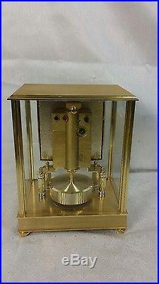 Brass Elgin Mantle Clock westminster chime quartz NISSHIN CLOCK CO JAPAN