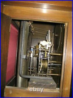 Breitinger Phil. Tubular Westminster Vesper Chime Tall Case Clock Moonphase Runs