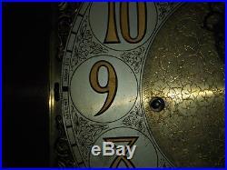 Breitinger Westminster Tubular Chime Tallcase Grandfather Hall Clock Moon Dial