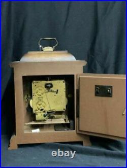 Bucherer Mantel Shelf Clock Graham Bracket 612-437 Westminster Chimes & Key