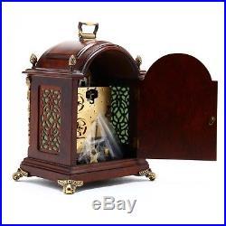 Bucherer Mantle Bracket Shelf Clock Moonphase Old Westminster Chime