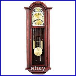 Bulova Clocks Tatianna Wooden Mahogany 3 Tune Musical Chiming Clock (Open Box)