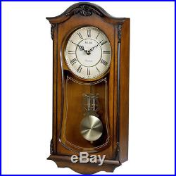 Bulova Cranbrook Wall Clock With Westminster Chime in Walnut #C3542