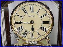 Bulova Mantel Clock- The Bardwellin Antique Walnut Finish B1987