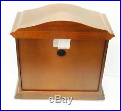 Bulova Mantel Clock -the Bramley-in Walnut Finish With Harmonic Chimes B1843