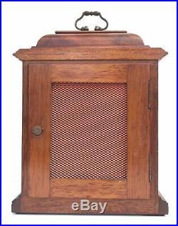 Burl Walnut Elliott Westminster Whittington Chiming Bracket Clock AUTO SHUT OFF