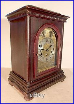 C1921 Large Junghans Westminster Chime Bracket Clock with Ornate Dial