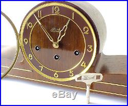 Chiming Mantel Clock Hermle Westminster (big Ben) Made In Germany Top