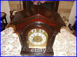 CLASSIC Antique Junghans 1909, Westminster Chime 8 Day Mantel Bracket Clock-A09