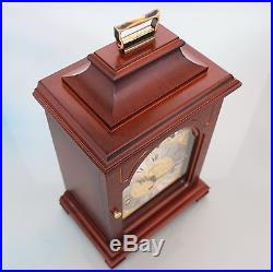 CLOCK Mantel HERMLE MOONPHASE! German Westminster 3 MELODIES Chime Vintage Shelf
