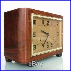 CLOCK Mantel PFEILKREUZ JUNGHANS HAC Westminster BAUHAUS! Antique Germany Chime