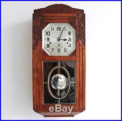 CLOCK Wall KIENZLE TOP CONDITION 1920s WESTMINSTER Chime Antique German RESTORED