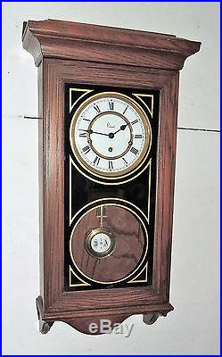 Colonial Molyneux Triple /westminster Chime Wall Clock Regulator Working U. S. A