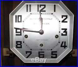 Ca1930 Westminster Chime Oak Wall Clock France by Maison Poulain