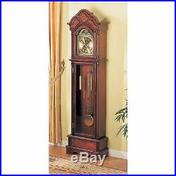 Cherry Brown 77-inch Grandfather Clock Home Living Room Decor Westminster Chime