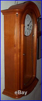 Cherry Wood Westminster Chiming Wall Clock By Hermle (strike/silent Feature)