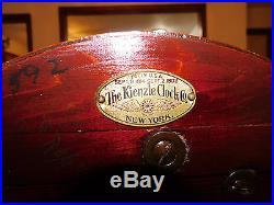 Classic Antique Kienzle Mahogany Fireplace Westminster Chime Bracket Mantle