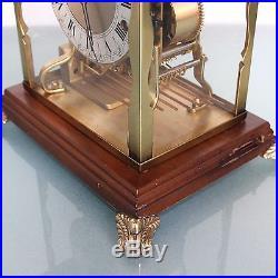 Clock Mantel SCHATZ Translucent TOP! Westminster German TRIPLE CHIME Mid Century