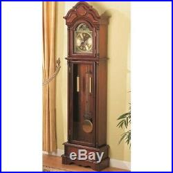 Coaster Grandfather Clock in Brown Red