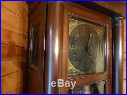 Colonial Manufacturing Antique Empire Grandfather's Clock 86 Westminster Chimes