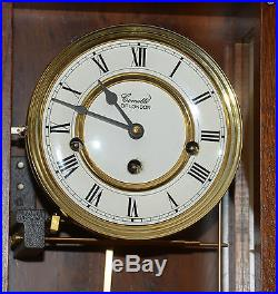Comitti Essex Mahogany Bell striking wall clock 8 day Westminster Chime movement