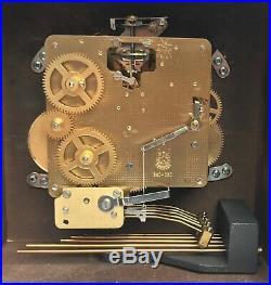 Comitti Of London Mahogany Musical 3 Train Bracket Clock Westminster Chimes
