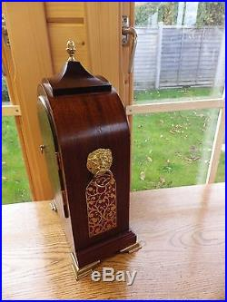 Comitti Of London Westminster Chime Mahogany And Maple Bracket Clock