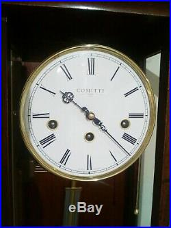 Comitti of London'The Essex' Westminster chime regulator wall clock RRP £1385
