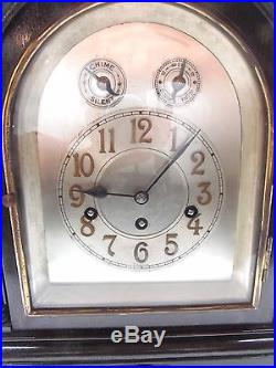 Completely Rebuilt Junghans Westminster Chime Mantle Clock! VERY NICE