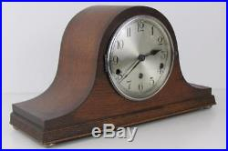 DUAL CHIMING MANTEL CLOCK whittington or westminster musical chimes NAPOLEON HAT