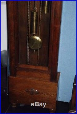 DUFA German Musical Westminster Chime Art Deco Longcase Grandmother Clock