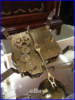Daneker Pillar And Scroll Mantel Clock Westminster Chime