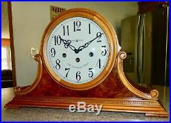 Deluxe Key Wound Westminster Chiming Howard Miller Mantel Clock