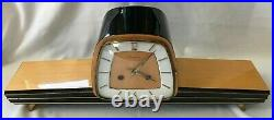 Dugena Westminster Chiming Mantel Clock Art Deco / Mid-Century Look