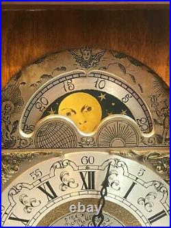 Dutch Bracket Clock. Westminster Chimes. Lunar Dial. John Warmink 20th Century