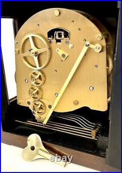 ELLIOTT LONDON Mahogany Bracket Clock Westminster Chime AUTOMATIC NIGHT SILENCER
