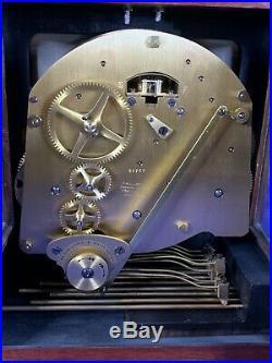 ELLIOTT LONDON Walnut Bracket Clock Westminster Whittington Chime NIGHT SILENCE