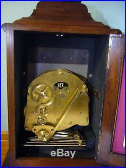 ELLIOTT Three Train Mantel Mahogany Westminster & Whittington Chimes Clock