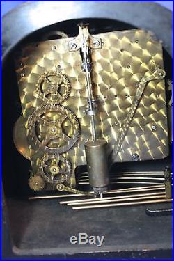 English Deco Westminster Chimes Antique Clock 100% Original Runs Great